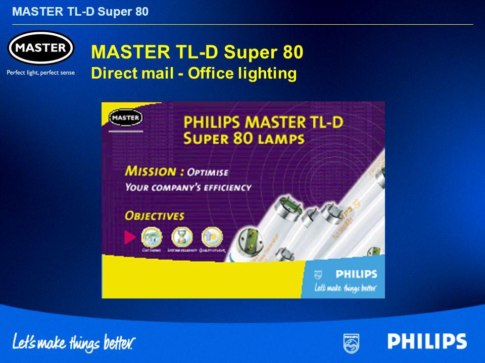 MASTER TL-D Super 80 MASTER TL-D Super 80 Direct mail - Office lighting