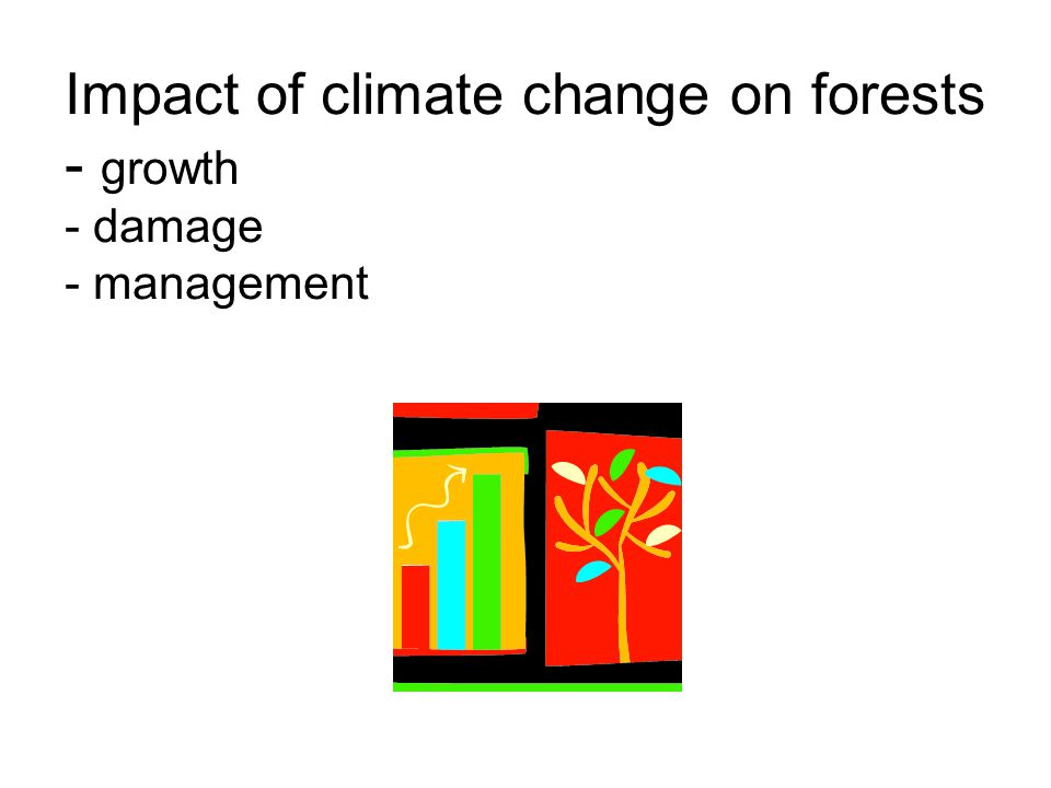 Impact of climate change on forests - growth - damage - management