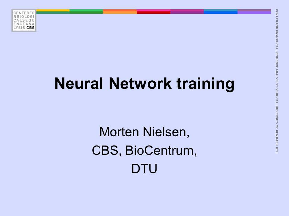 CENTER FOR BIOLOGICAL SEQUENCE ANALYSISTECHNICAL UNIVERSITY OF DENMARK DTU Neural network programs How –Classification neural network Howlin –Real value neural network Nnlinplayer –Neural network player i.e.