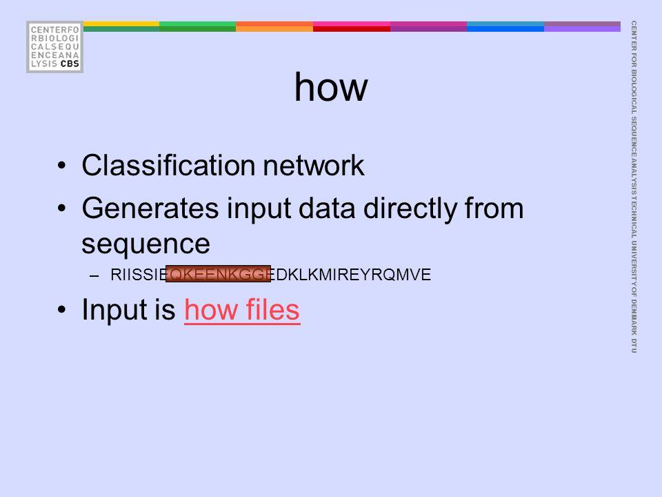 CENTER FOR BIOLOGICAL SEQUENCE ANALYSISTECHNICAL UNIVERSITY OF DENMARK DTU Useful programs fasta2pep seq2inp ranlines splitfile balanceset xycorr Examples fasta2pep ex.fsa | grep -v # | seq2inp -- | grep -v # | ranlines -- | grep -v # | splitfile -nc 4 -- seq2inp data | nnlinplayer synlist -- | grep -v # | args 1,3 | xycorr
