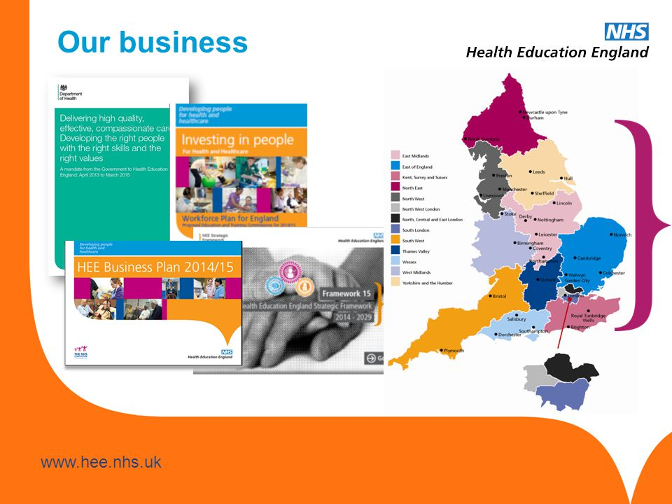 www.hee.nhs.uk Our business