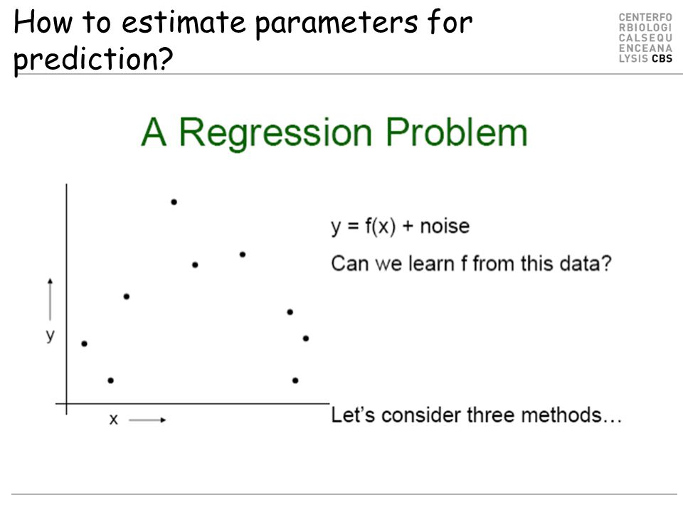 How to estimate parameters for prediction