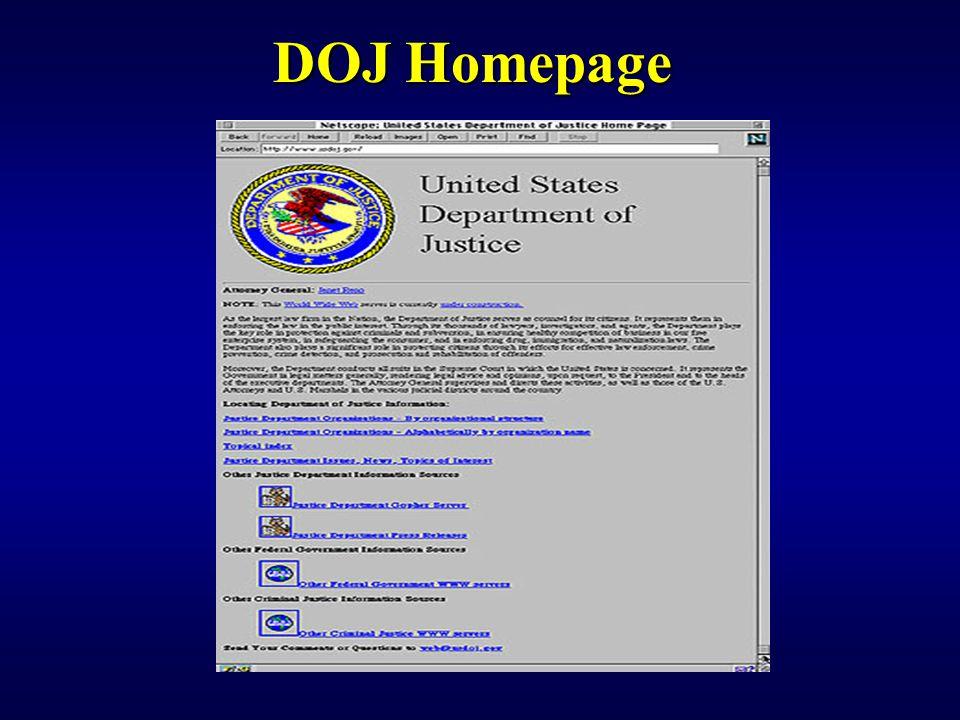 DOJ Homepage
