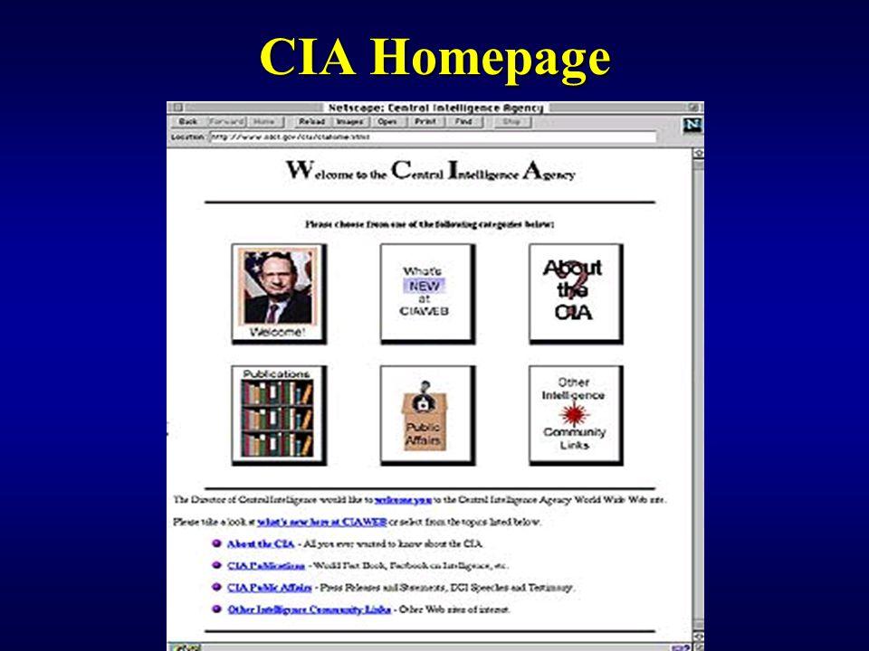 CIA Homepage