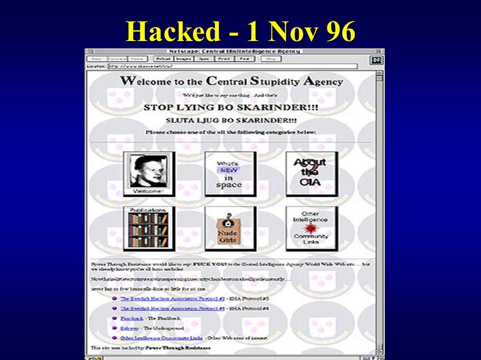 Hacked - 1 Nov 96