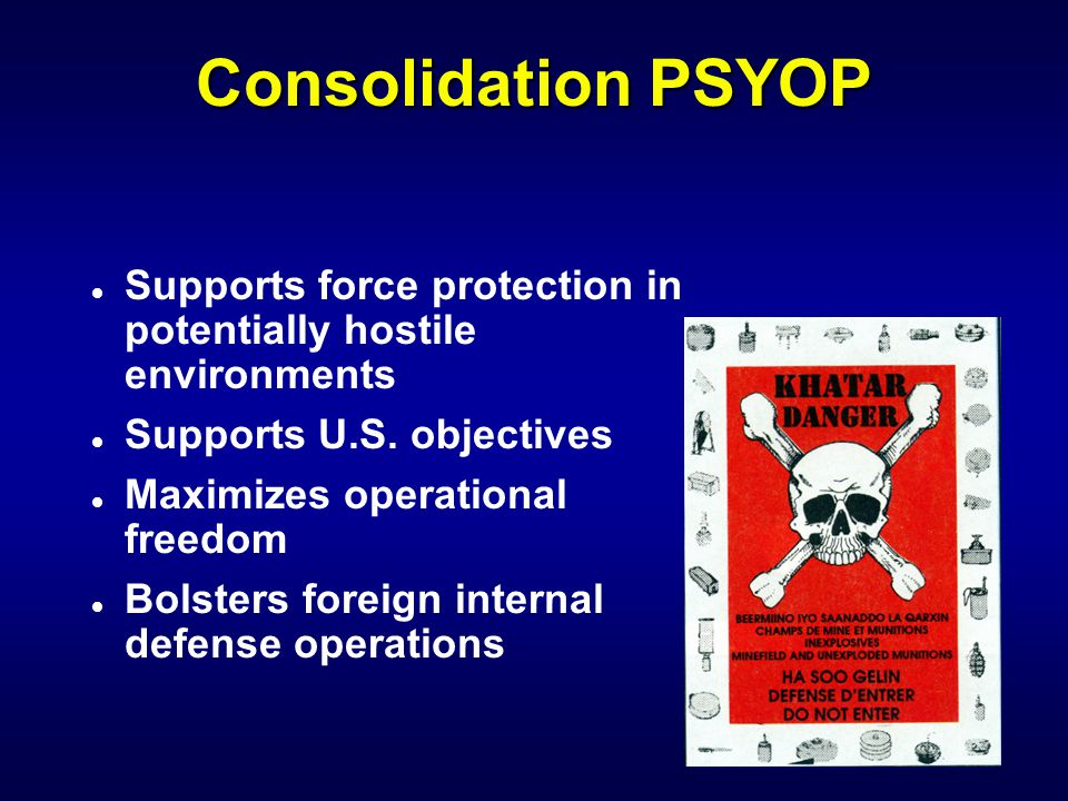 Types of PSYOP l Cohesive l Divisive