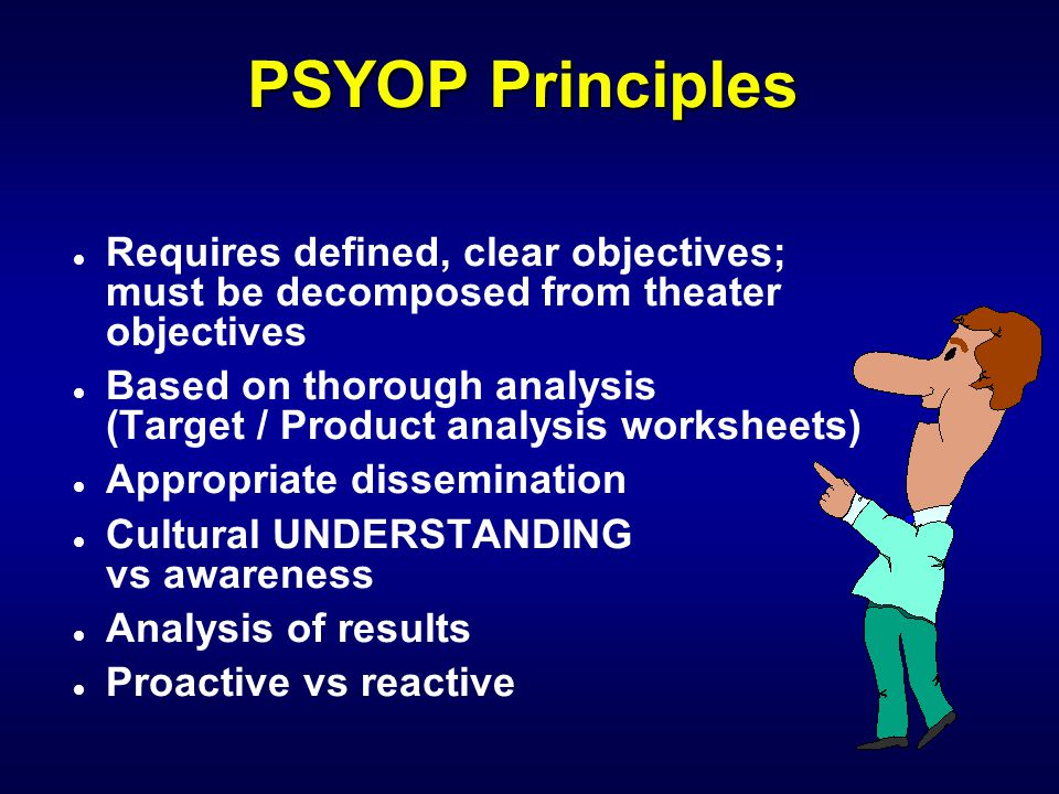 What can PSYOP do.