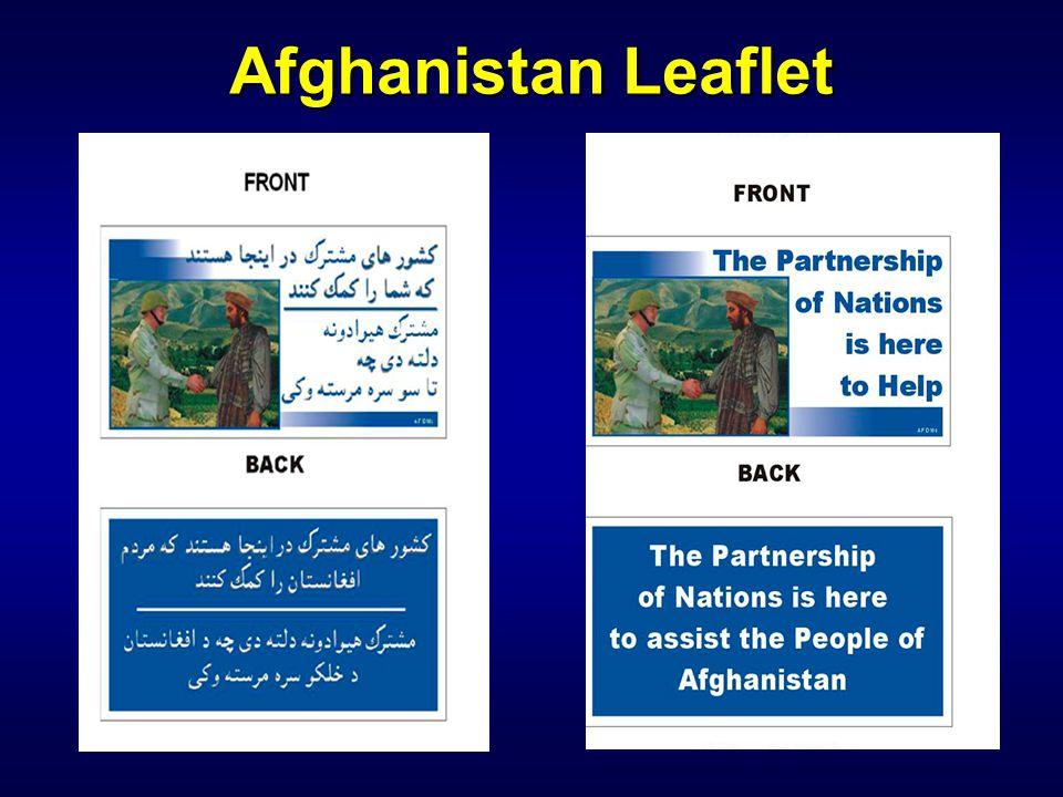 Afghanistan Leaflet