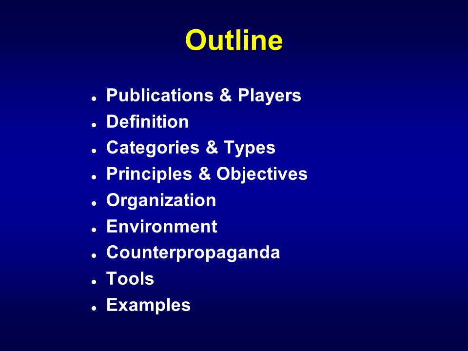 Key Publications l 1990 PSYOP Master Plan l DoD Directive S3321.1 l Joint Pub 3-53 l Air Force Doctrine Document 2-5.3 l AFI 10-702 l Army FM 3-05.30