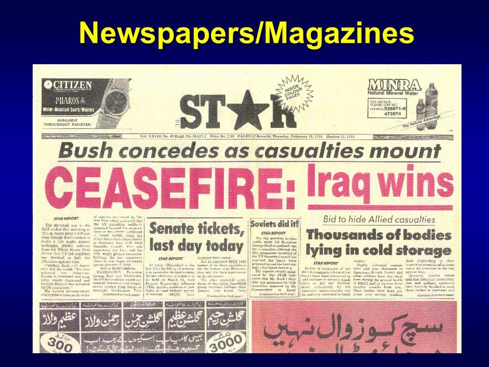 Newspapers/Magazines
