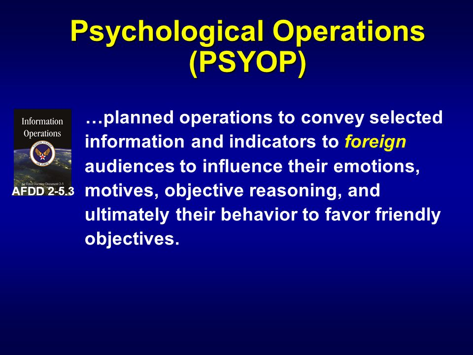 PSYOP Categories l Strategic l Operational l Tactical l Consolidation