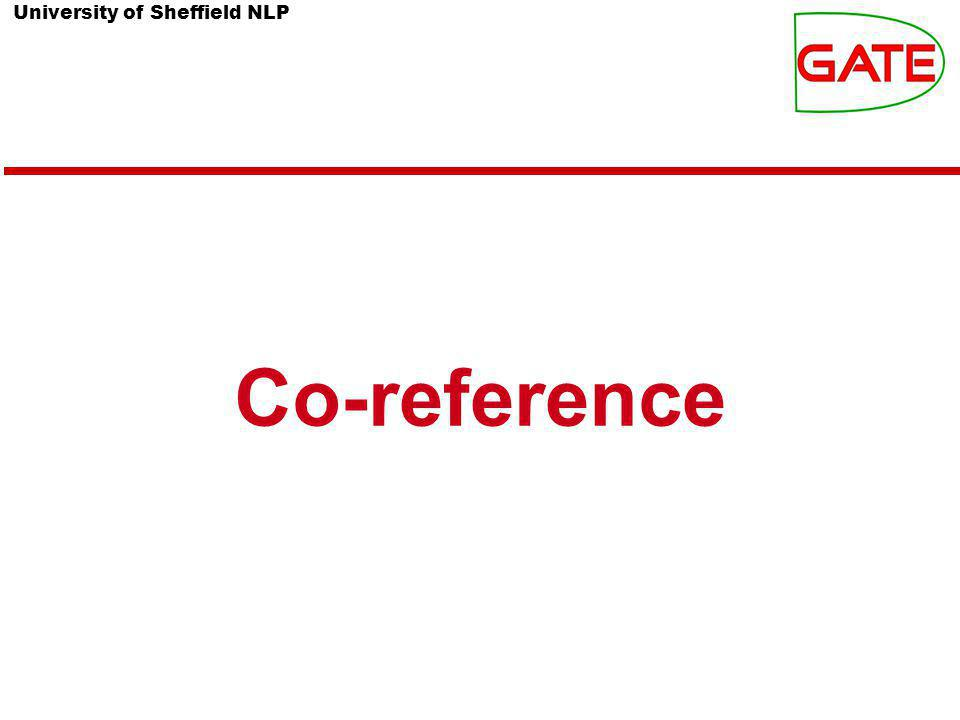 University of Sheffield NLP Co-reference