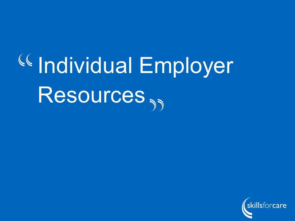 Individual Employer Resources