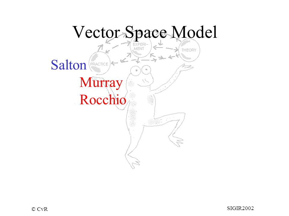 © CvR SIGIR2002 Vector Space Model Salton Murray Rocchio