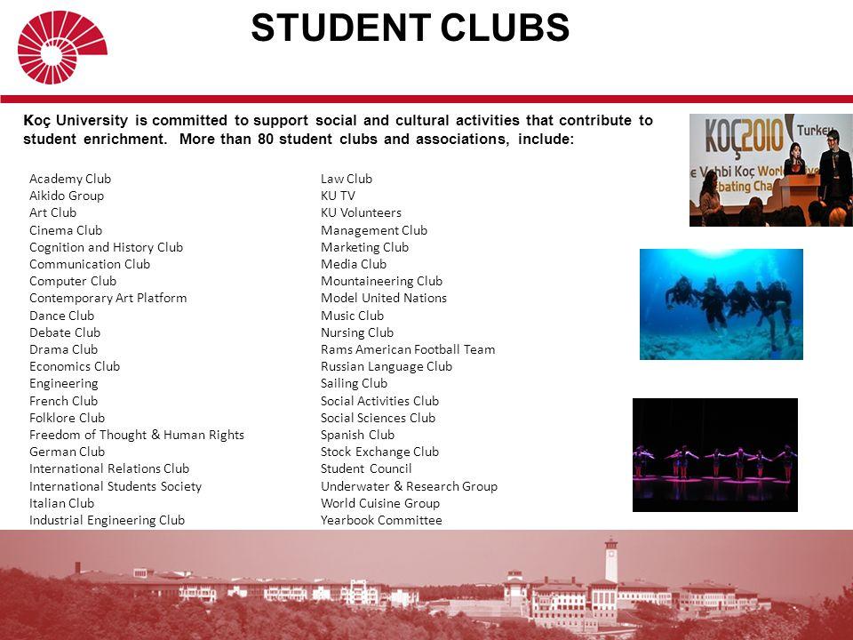 STUDENT CLUBS Law Club KU TV KU Volunteers Management Club Marketing Club Media Club Mountaineering Club Model United Nations Music Club Nursing Club