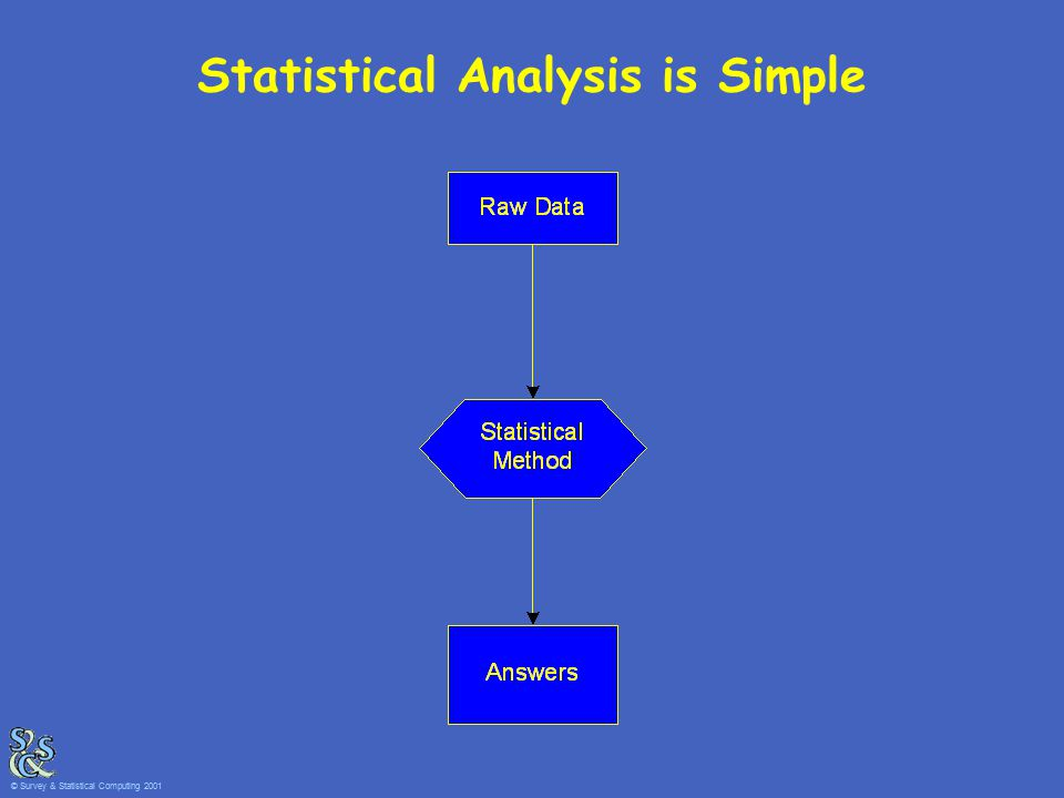 Statistical Analysis is Simple © Survey & Statistical Computing 2001