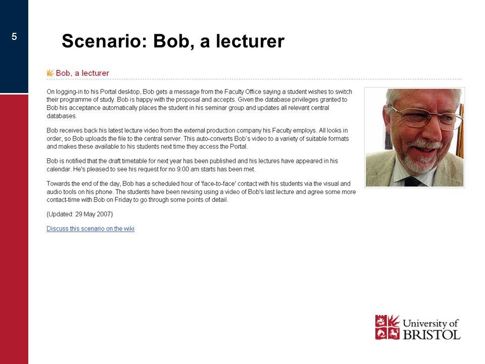 5 Scenario: Bob, a lecturer