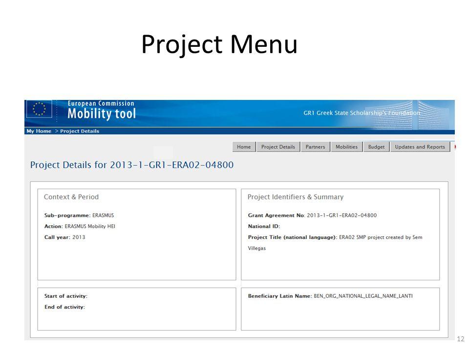 Project Menu 12