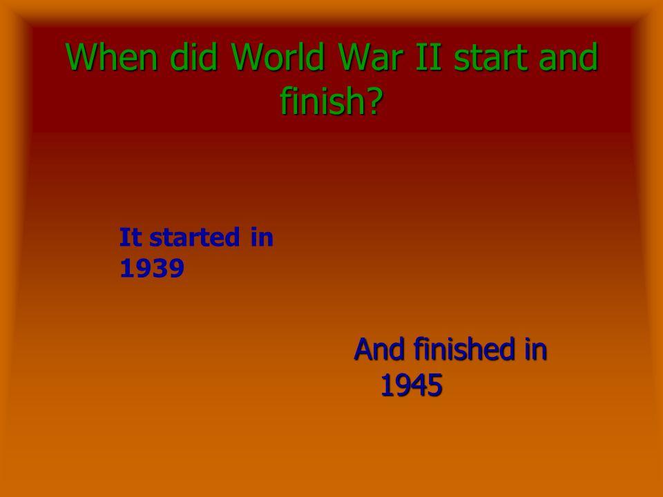 World War II By Natalie Doe