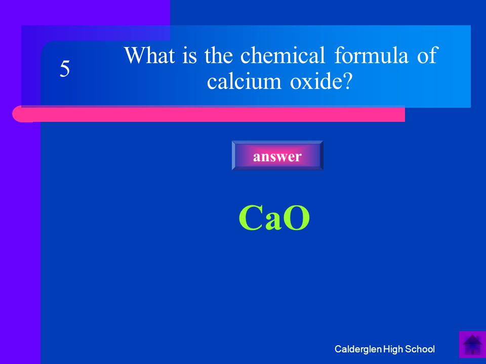 Calderglen High School What is the correct formula for this molecule? answer 25 CHCl 3 C Cl H