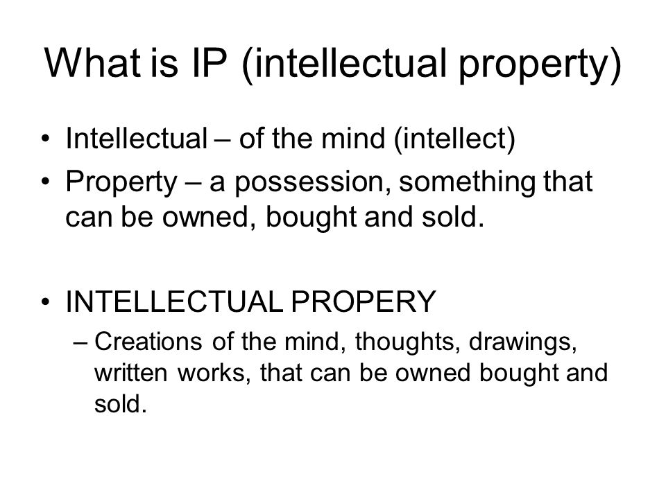Can you protect your IP.YES Why protect your IP.