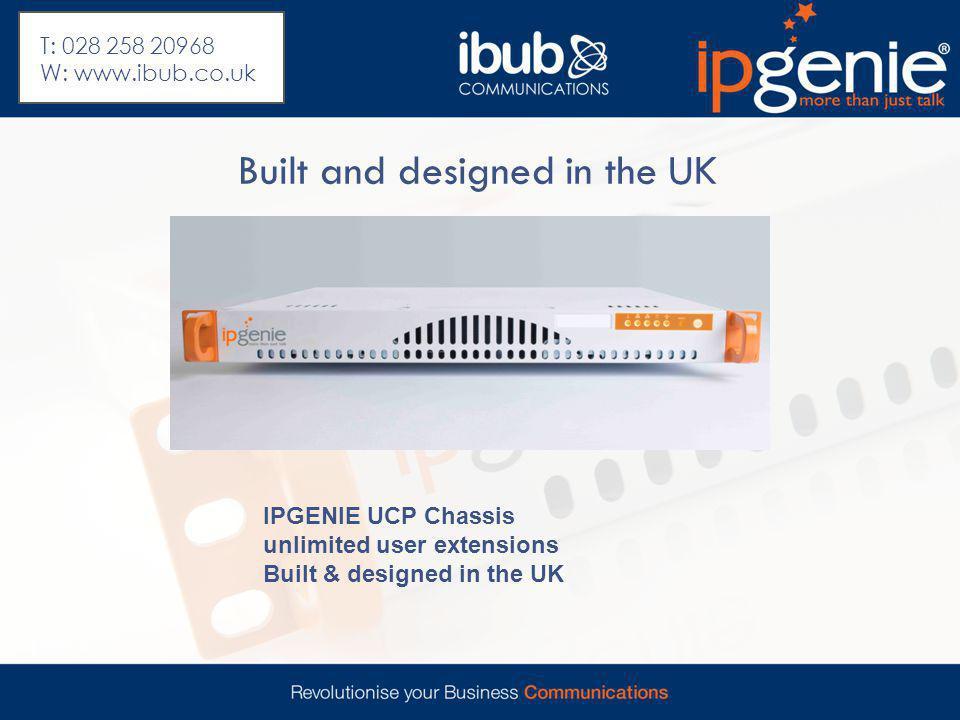 Mobile App User interface T: 028 258 20968 W: www.ibub.co.uk