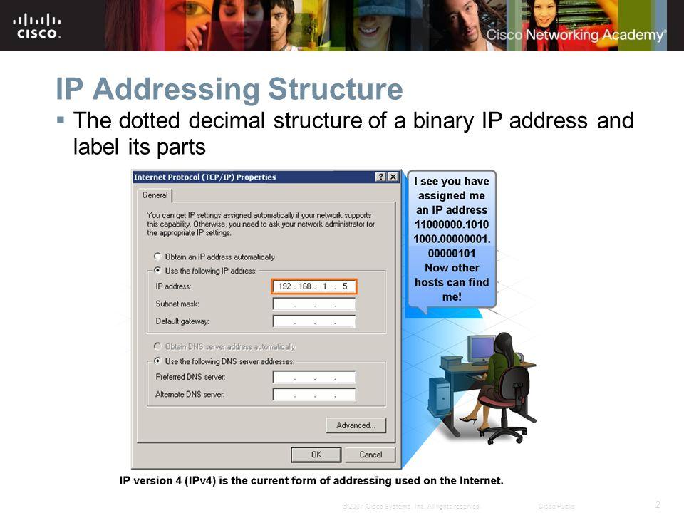 33 © 2007 Cisco Systems, Inc.