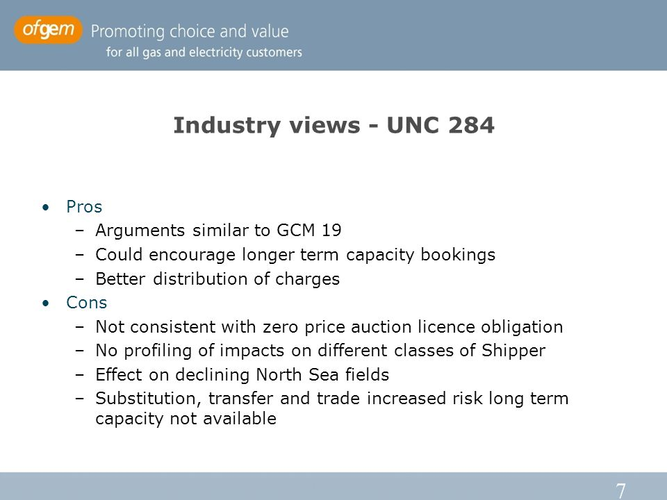 8 UNC 285 UIOLI capacity released based on daily unutilised firm capacity –Available to Shippers with zero reserve price UNC 285 limits UIOLI release to when no more than 10% of firm baseline entry capacity is unsold –Threshold calculated after monthly auction No change to ability for NGG to release discretionary interruptible capacity