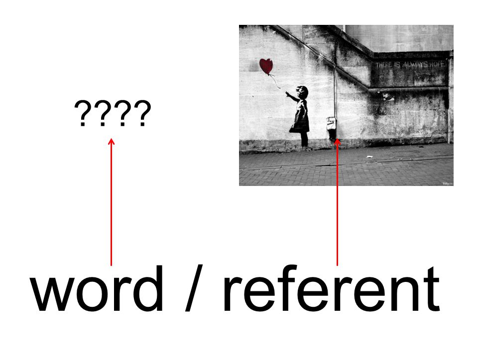 word / referent