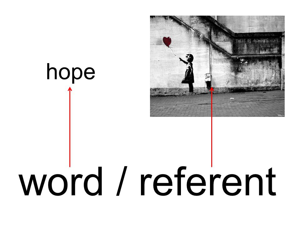 hope word / referent