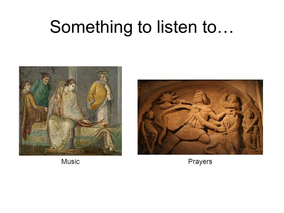 Something to listen to… Music Prayers