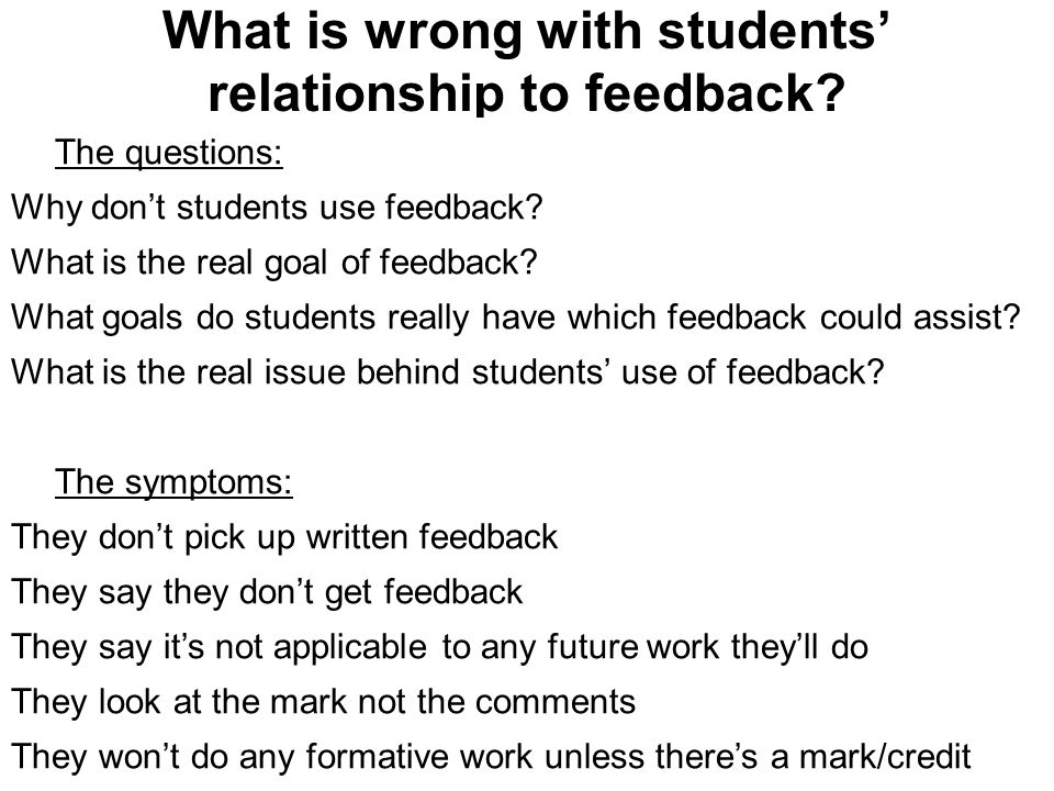 Page 4 of 29 Part B: How should we change our approach to feedback?