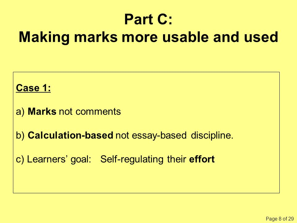For a different kind of feedback — marks from a quiz — a different kind of prompting seems effective.