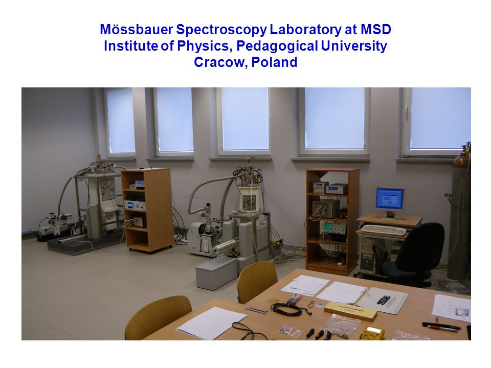 Mössbauer Spectroscopy Laboratory at MSD Institute of Physics, Pedagogical University Cracow, Poland