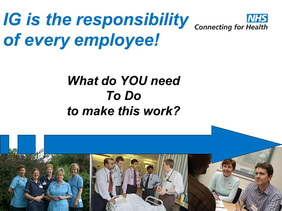 IG is the responsibility of every employee! What do YOU need To Do to make this work?