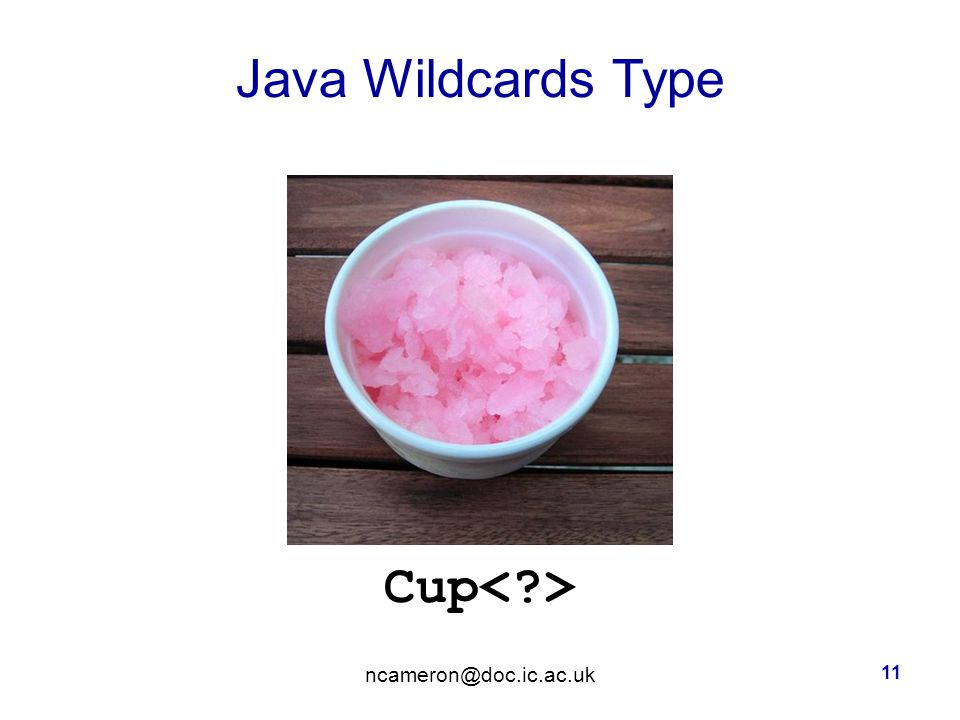 Java Wildcards Type Cup 11