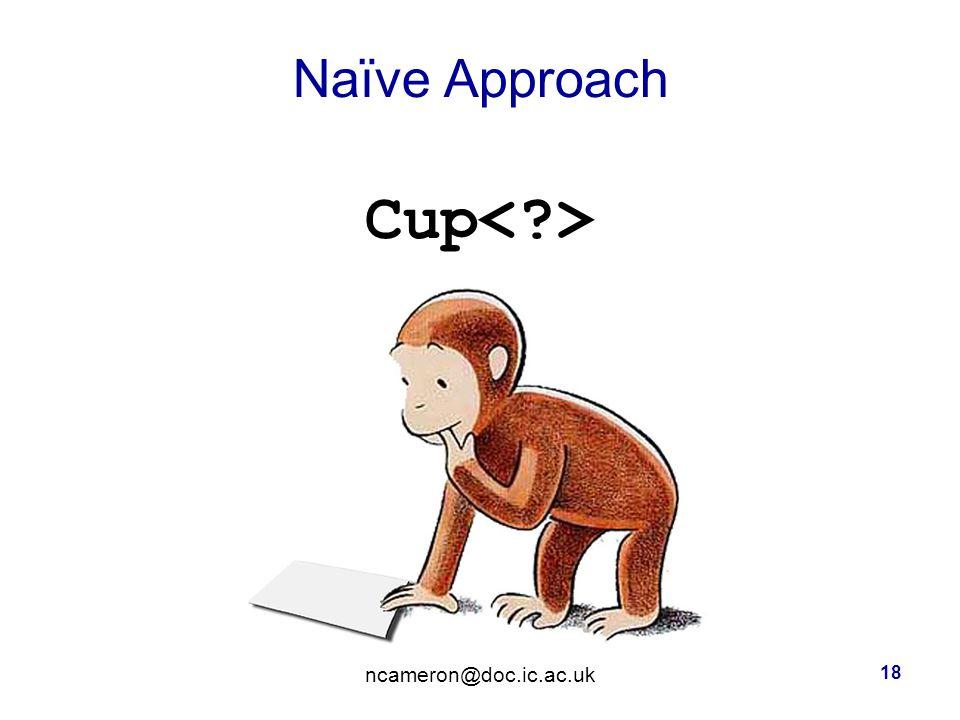 Naïve Approach Cup ncameron@doc.ic.ac.uk 18