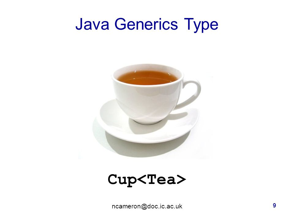 Java Generics Type Cup 9