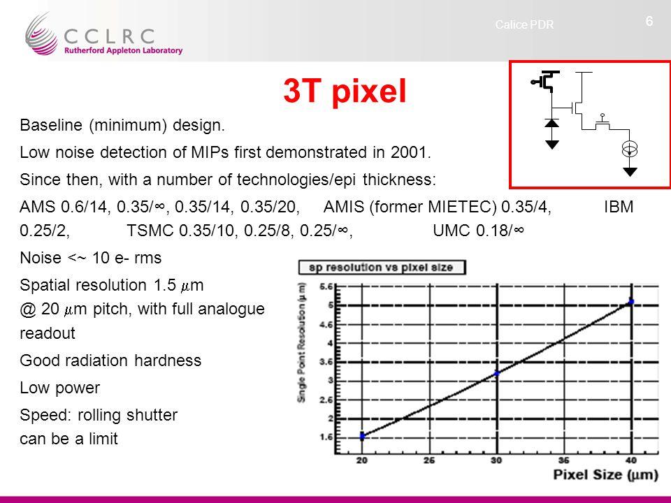 Calice PDR 6 3T pixel Baseline (minimum) design.