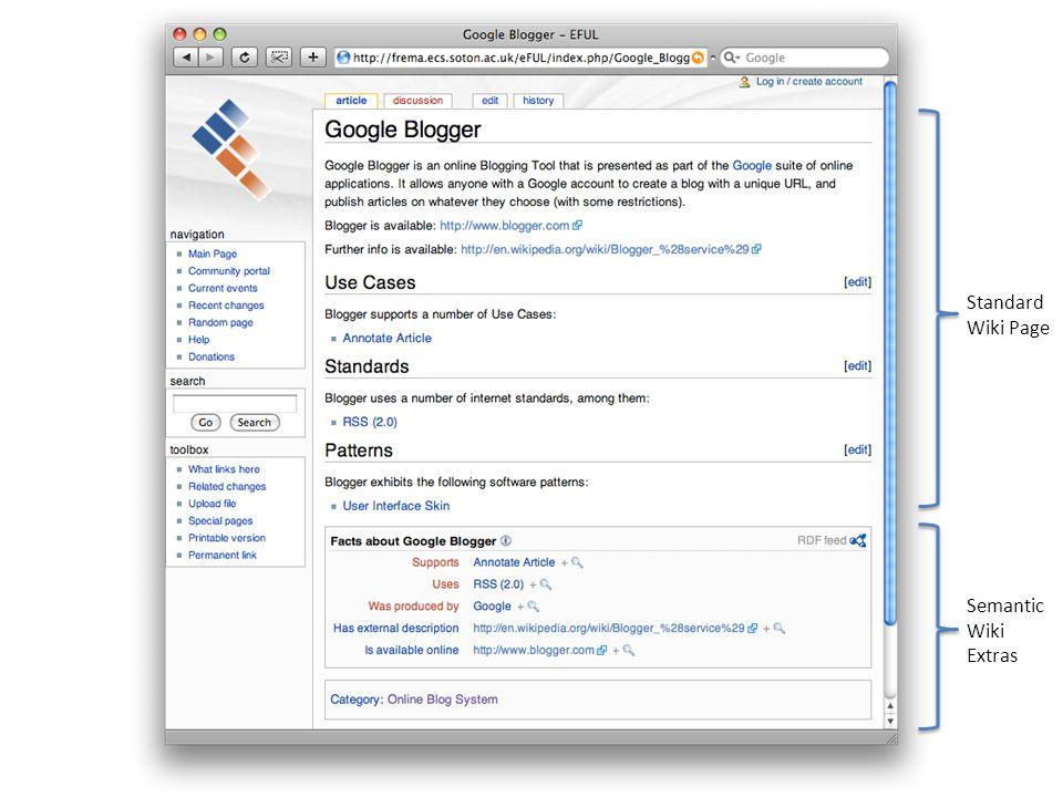 Standard Wiki Page Semantic Wiki Extras