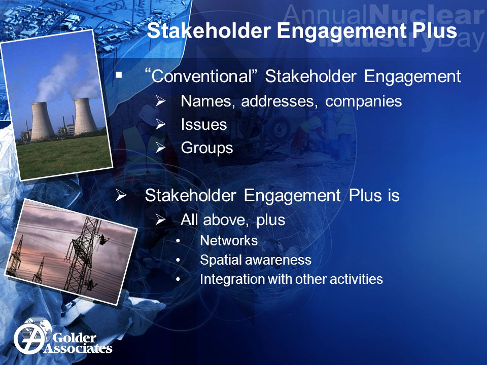 Stakeholder Networks  What do we mean by this.