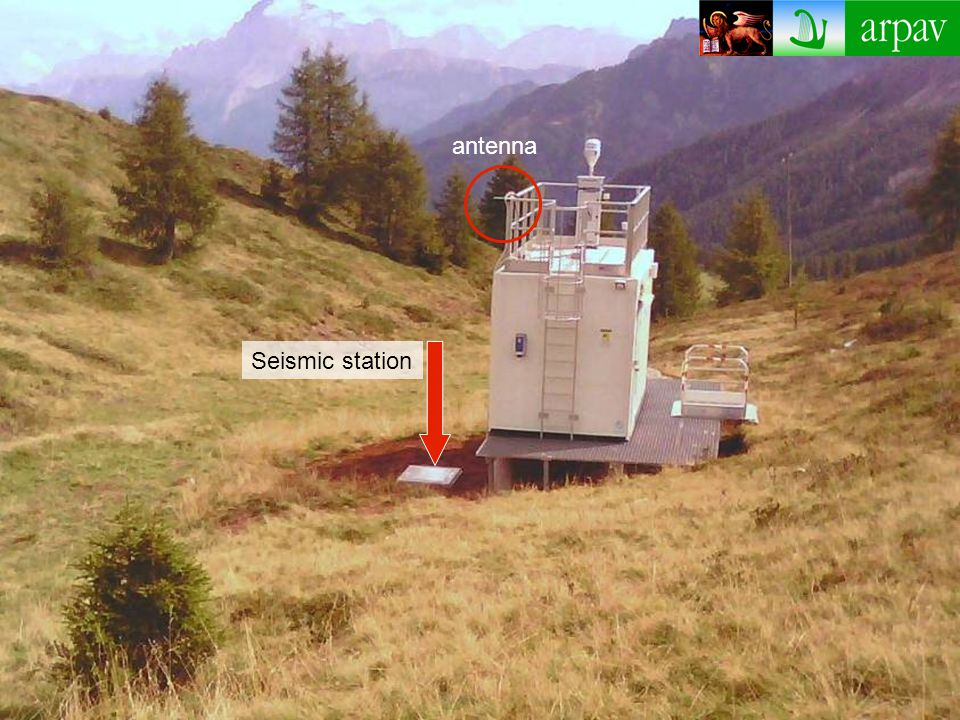 Seismic station antenna
