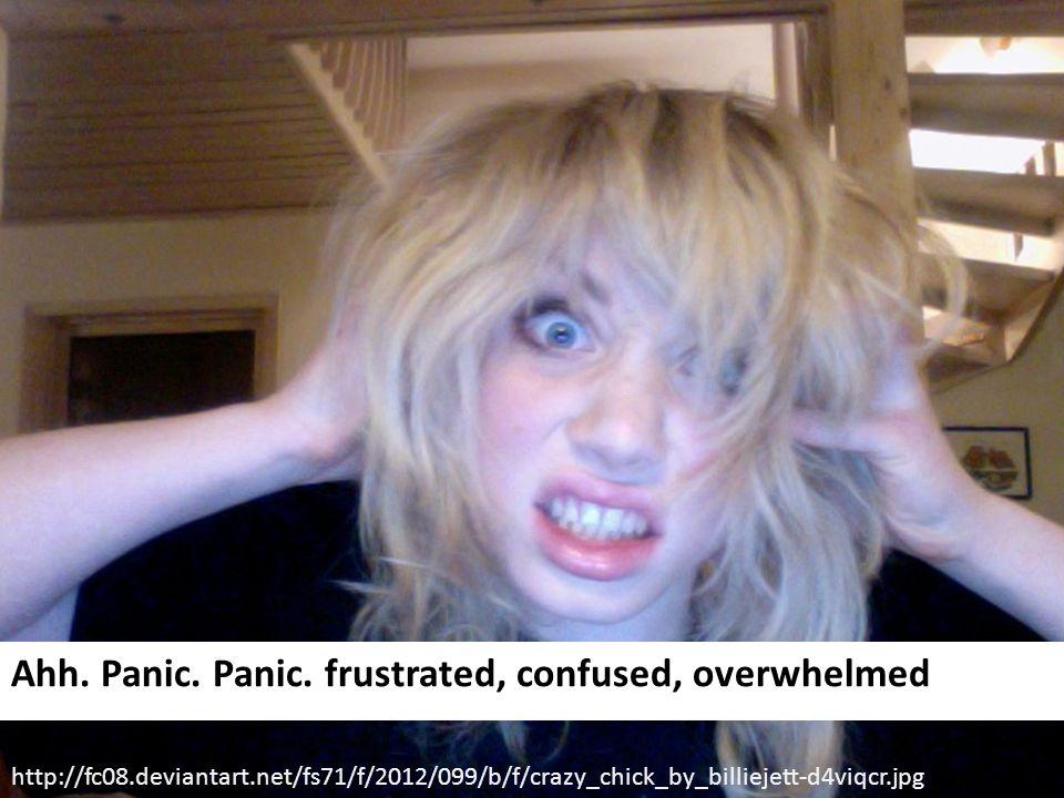 Ahh. Panic. Panic.