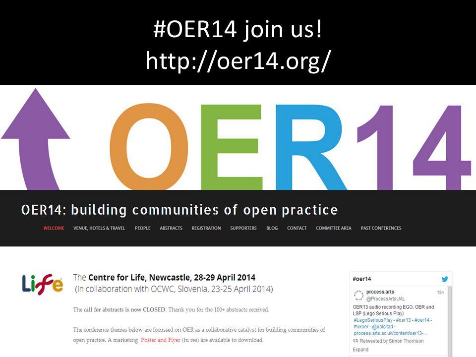 #OER14 join us! http://oer14.org/