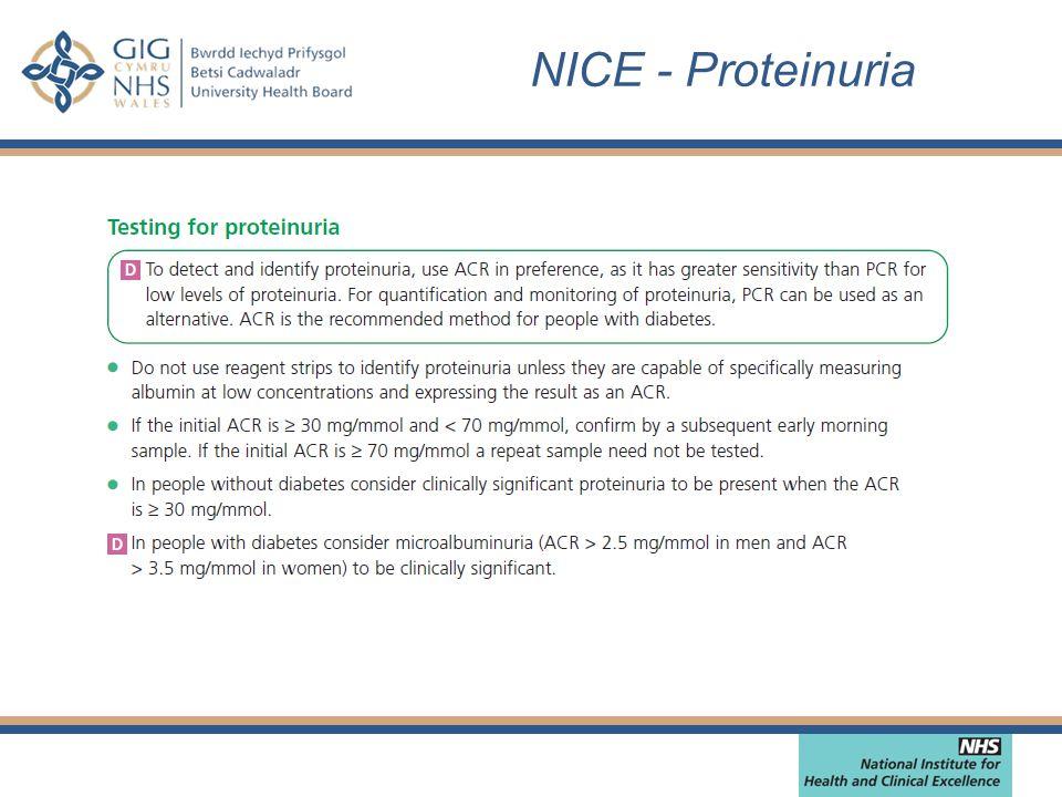 NICE - Proteinuria