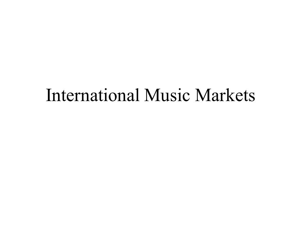 International Music Markets