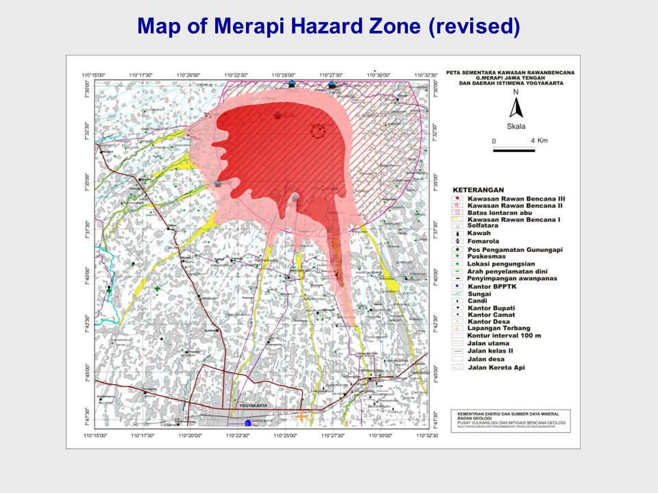 Map of Merapi Hazard Zone (revised)