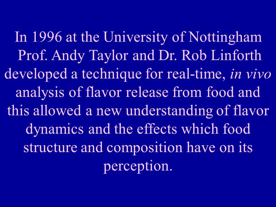 In 1996 at the University of Nottingham Prof.Andy Taylor and Dr.