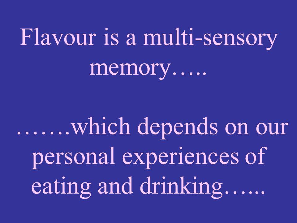 Flavour is a multi-sensory memory…..