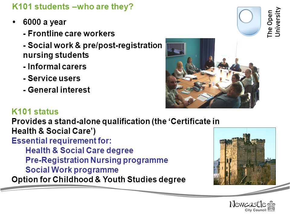 Background to the IVR  Many health & social care courses offered by colleges & universities contribute to the development of care competences, but do not achieve National Occupational Standards & qualification requirements in the National Minimum Standards (Care Standards Act 2000)  Successfully completing an NVQ can be difficult & slow process with some assessment centres because of: local shortages of suitably qualified/experienced assessors insufficient time allocation for workplace assessment difficulties with the language of NVQs the requirement to cross-reference all portfolio evidence to every part of the National Occupational Standards (some 400 or so items for an NVQ 3 HSC award)  NVQs don't provide the best preparation for university study & professional education & training in health & social care